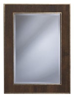 Palo Alto MIrror shown with:Burnished Silver finishWood panel inset with Bombay finish