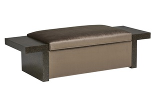 Palo Alto Bench shown with:Agate finishInside Storage