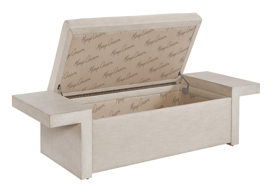 Palo Alto Bench shown with:Malt finishInside Storage