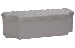 Palo Alto Bench shown with:Button Tufted seatInside Storage Selection of fabrics available.