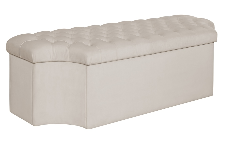 Palo Alto Bench shown with:Button Tufted seatInside Storage