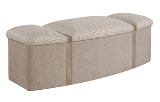 Palo Alto Bench shown with:Cashmere Silver finishInside Storage
