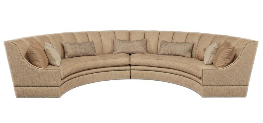 Pellegrino 2-Piece Sofa shown with: Boxed bench seatBuilt-to-the-floor baseBronze Star nailhead frame trim