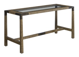 Palms Desk shown with:Raffia base in Saddle finish withWood accents in Dark Bay finish