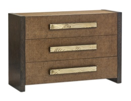 Palms Chest shown with:Dark Bay finishRaffia drawer faces and top in Saddle finishSatin Brass hardware