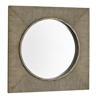 Palms Mirrorshown with:Dappleraffia finishInnder circle in Silver Cloud finish