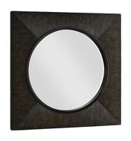 Palms Mirrorshown with:Dark Bay raffia finishInnder circle in Bronzed Brass finish