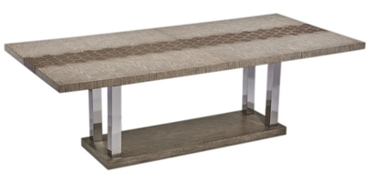 Palms Dining Table shown with:Dapple finishStainless Steel legs