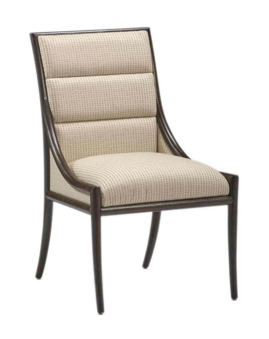 Palms Side Chair shown with:Tight SeatDark Bay finishBronzed Brass accents
