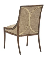 Palms Side Chair shown with:Tight SeatSaddle finishSatin Brass accents