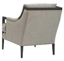 Porter Chair shown with:Boxed seat cushionBombay finishSilver nailhead frame trim