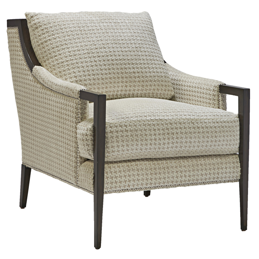 Porter Chair shown with: Boxed seat cushion Bombay finish Silver nailhead frame trim
