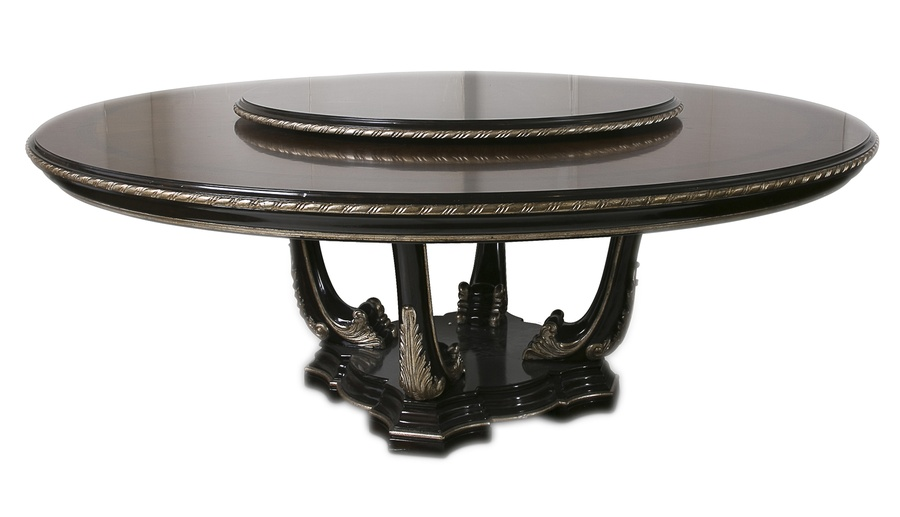 Piazza San Marco Lazy Susan shown with:Old World Sumatra finishVersailles Leaf finish trim