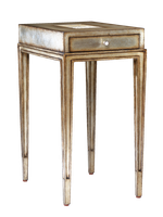 Redondo Chairside Table shown with:Versailles finishPolished Silver Mosaic shell top insetPolished Nickel hardware