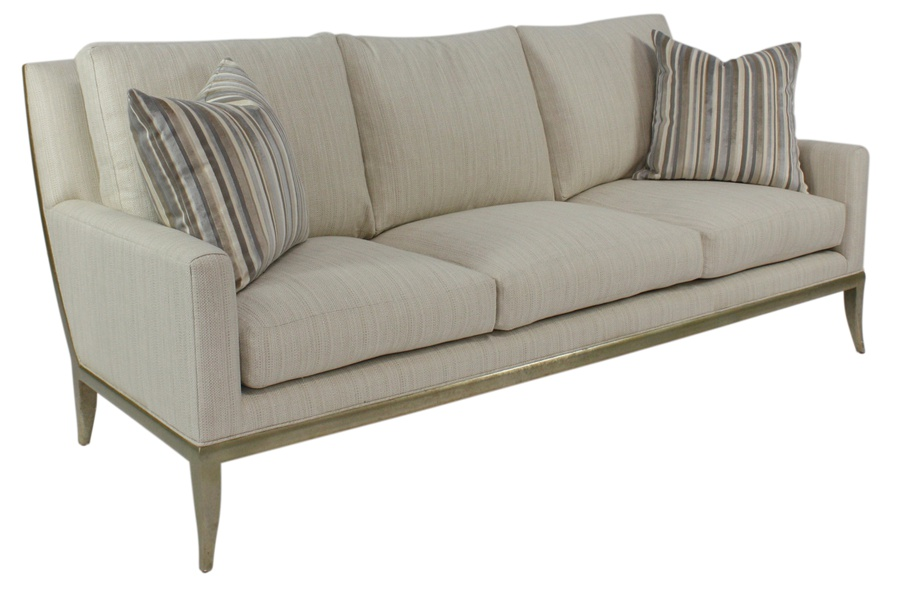 St Bart's Sofa shown with:(3) Seat CushionsDeco Silver finish