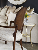 Sonoma Chairside Table shown with:Inlayed Textured Pearl shell top
