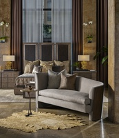 Soho Sofa shown with:Contemporary Havana finishGunmetal nailhead frame trim