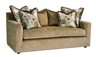 Santa Barbara Sofa (Multi Back) shown with: Boxed bench seatTrack ArmBuilt-to-the-floor base Silver nailhead frame trim