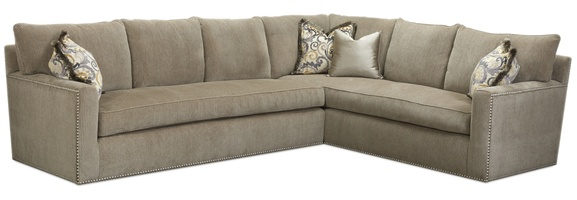 Santa Barbara Sectional shown with:STB53, STB73Track ArmBuilt-to-the-floor baseNailhead frame trim