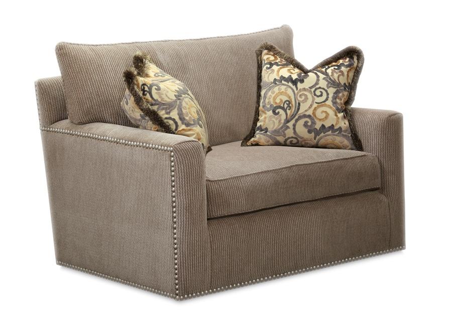Santa Barbara Chairshown with:Knife Edge Back PillowBoxed straight cushionTrackArmBuilt-to-the-floor baseNailhead frame trim