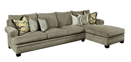 Santa Barbara Sectional shown with:STB44, STB53Boxed T-Seat CushionFan Pleated ArmTransitional legs in Contemporary Havana finish withEbony paint finish trim