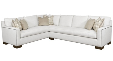 Santa Barbara Sectional shown with:STB53, STB73Track ArmTransitional bracket leg in Bombay finishSilver nailhead frame trim