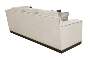 Santa Barbara Sectional shown with:STB53, STB73Contemporary Track ArmBoxed straight cushionFitted boxed pillowsPlinth base in Bombay finishGunmetal nailhead frame trim
