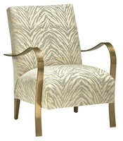 Stiletto Chair shown with:Tight seat and backSatin Brass frame
