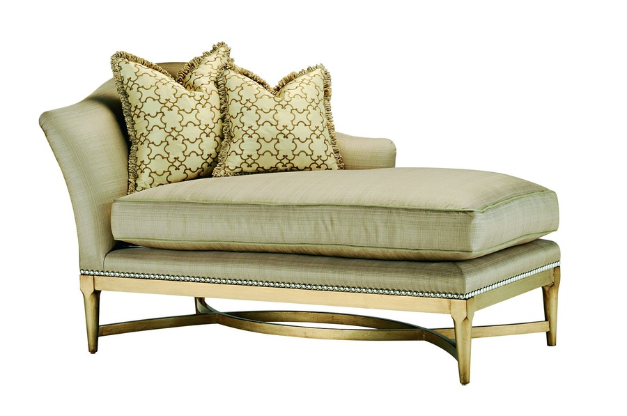 Tango Chaise shown with: Boxed bench seatMedici finishMerengue nailhead frame trim