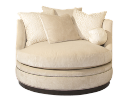 WaverlyChair and A Half shown with:Boxed seat cushionBuilt-to-the-floor with plinth base in Bombay finishSilver nailhead frame trim