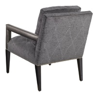 Wright Chair shown with:Tight seatExposed Wood Legs in Ebony finishSilver nailhead frame trim