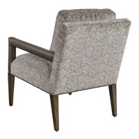 Wright Chair shown with:Tight seatExposed Wood Legs in Latte finishGunmetal nailhead frame trim