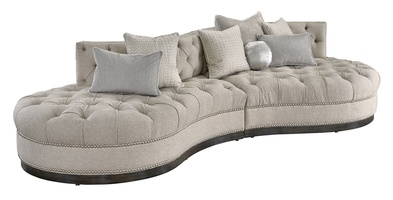 ZennbspSectional Shown WithButton Tufted Seat And BackBuilt To The
