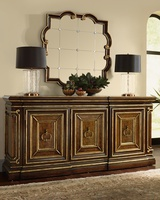Majorca Mirror shown with:Havana finishVenetian Gold finish trimClear Mirror